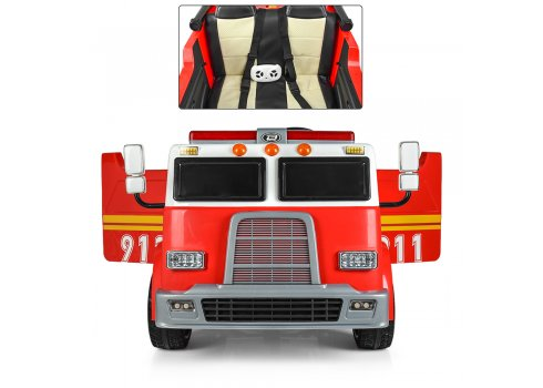 Детский 4-х моторный электромобиль Пожарная с мигалками и громкоговорителем, M 3827 EBLR-3