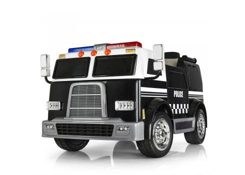 Детский 4-х моторный электромобиль Полиция с мигалками и громкоговорителем, M 3828 EBLR-2