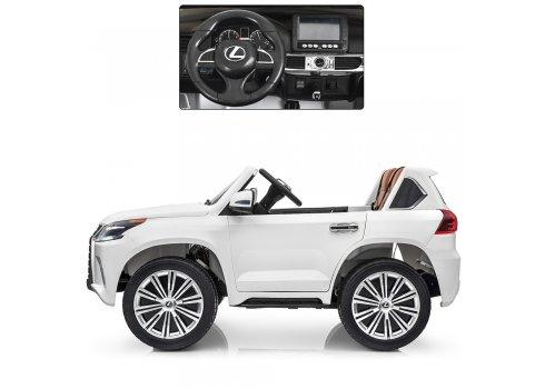Детский полноприводный электромобиль Lexus (Лексус) LX 570 M 3906(MP4)EBLR-1 белый