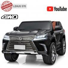 Детский полноприводный электромобиль Lexus (Лексус) LX 570 M 3906(MP4)EBLR-2 черный