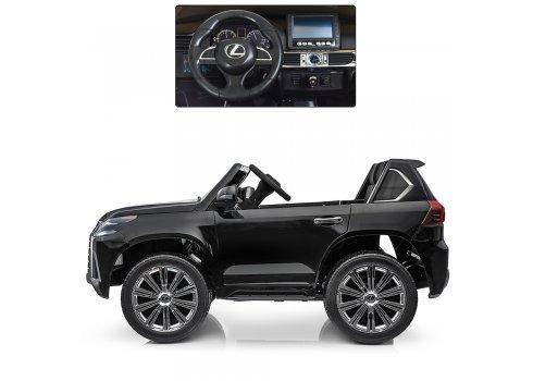 Детский полноприводный электромобиль Lexus (Лексус) LX 570 BAMBI M 3906(MP4)EBLRS-2 черный