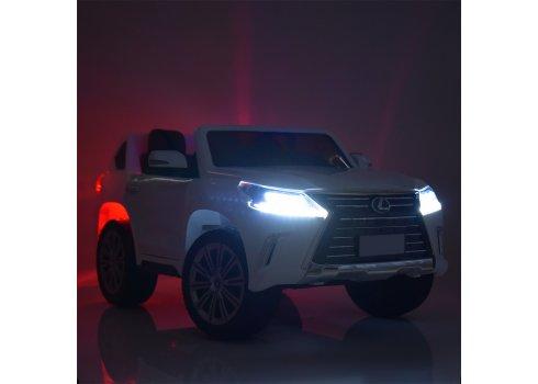 Детский полноприводный электромобиль Lexus (Лексус) LX 570 M 3906EBLR-1 белый