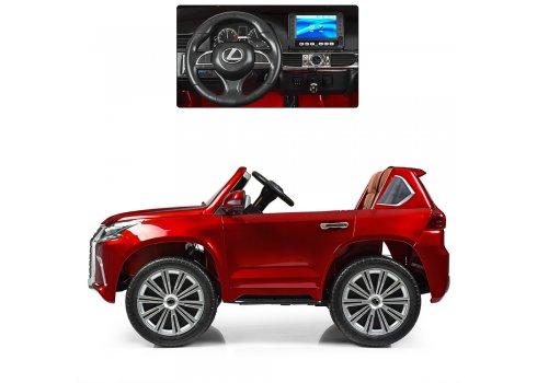Детский полноприводный электромобиль Lexus (Лексус) LX 570 M 3906(MP4)EBLRS-3 красный автопокраска