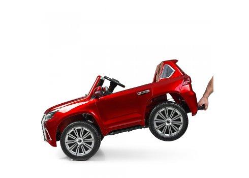 Детский полноприводный электромобиль Lexus (Лексус) LX 570 с покраской M 3906EBLRS-3 красный