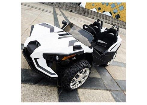 Детский двухместный электромобиль Polaris, M 3907 EBLR-1 белый
