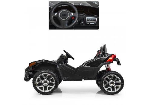 Детский двухместный электромобиль Polaris, M 3907 EBLR-2 черный