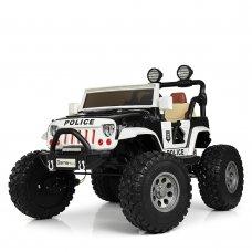 Детский полноприводный электромобиль Jeep Wrangler Police M 4077EBLR-2-1 белый