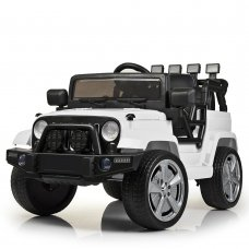 Детский электромобиль Джип Jeep Wrangler M 4148EBLR-1 белый