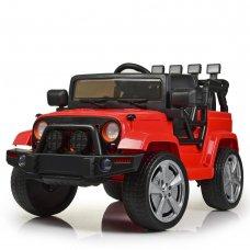 Детский электромобиль Джип Jeep Wrangler M 4148EBLR-3 красный