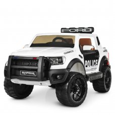 Детский электромобиль джип Ford Police Полиция M 4173EBLR-1 белый