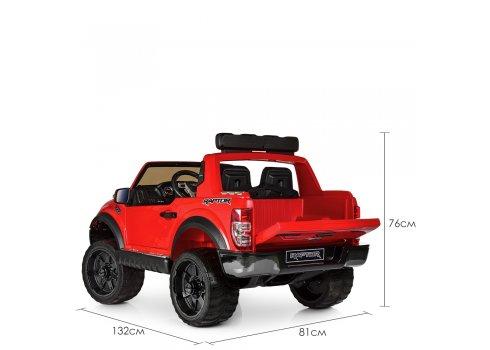 Детский электромобиль джип Ford с 2-мя мощными моторами M 4174EBLR-3 красный