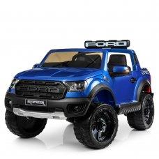 Детский электромобиль джип Ford с 2-мя мощными моторами M 4174EBLRS-4 покраска синий