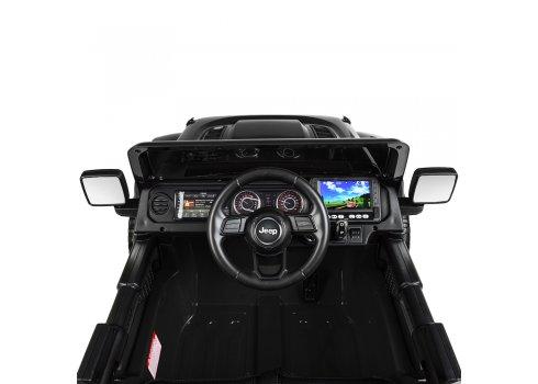 Детский электромобиль Джип с планшетом MP4 Jeep 4х4 Bambi M 4176(MP4)EBLR-2 черный