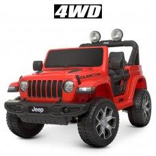 Детский полноприводный электромобиль Джип Jeep 4х4 Bambi M 4176EBLR-3 красный