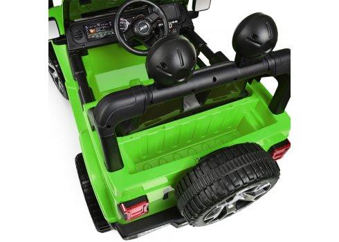 Детский электромобиль Джип с планшетом MP4 Jeep 4х4 Bambi M 4176(MP4)EBLR-5 зеленый