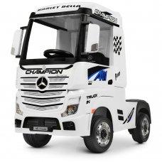 Детский электромобиль тягач (фура) Mercedes-Benz Actros Bambi M 4208EBLR-1 белый
