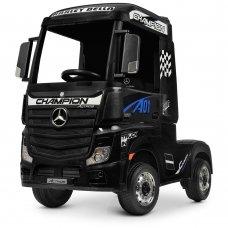 Детский электромобиль тягач (фура) Mercedes-Benz Actros Bambi M 4208EBLR-2 черный