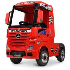 Детский электромобиль тягач (фура) Mercedes-Benz Actros Bambi M 4208EBLR-3 красный
