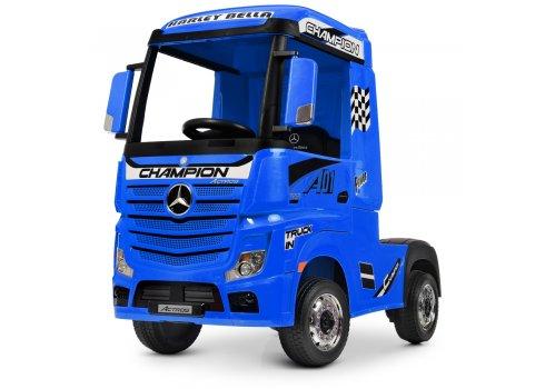 Детский электромобиль тягач (фура) Mercedes-Benz Actros Bambi M 4208EBLR-4 синий