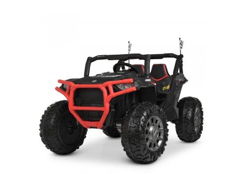 Детский электромобиль Джип BAMBI M 4248EBLR-2-3 черно-красный