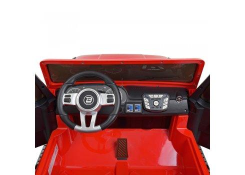 Детский двухместный электромобиль в стиле JEEP 4WD M 4264EBLR-3 красный