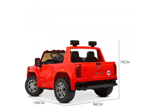 Детский электромобиль джип GMC Sierra Bambi M 4294EBLR-3 красный