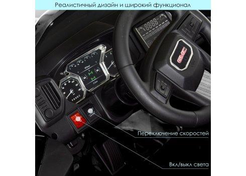 Детский электромобиль джип GMC Sierra Bambi M 4294EBLRS-2 черный