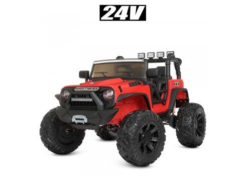 Детский электромобиль Джип Bambi M 4296EBLR-3(24V) красный