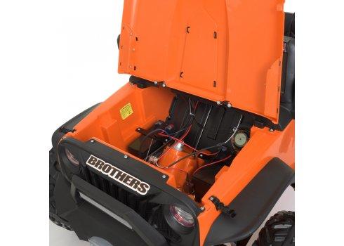 Детский электромобиль Джип Bambi M 4296EBLR-7(24V) оранжевый