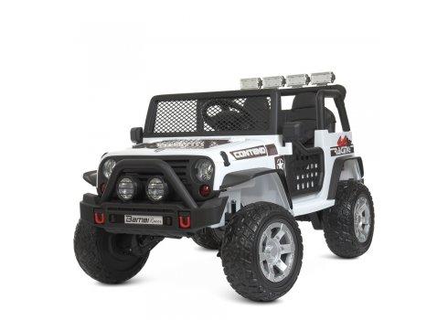 Детский электромобиль Джип полноприводный Bambi M 4297EBLR-1 белый