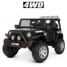 Детский электромобиль Джип полноприводный Bambi M 4297EBLR-2 черный