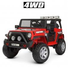 Детский электромобиль Джип полноприводный Bambi M 4297EBLR-3 красный
