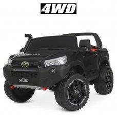 Детский двухместный электромобиль Джип 4WD лицензия TOYOTA M 4552(MP4)EBLR-2 с планшетом черный