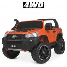 Детский двухместный электромобиль Джип 4WD лицензия TOYOTA M 4552(MP4)EBLRS-7 с планшетом оранжевый