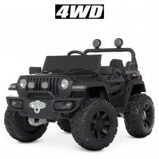 Детский электромобиль Джип внедорожник 4х4 Bambi M 4568EBLR-2 черный