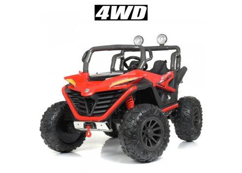 Детский электромобиль джип 4WD Bambi Racer M 4570EBLR-3 красный