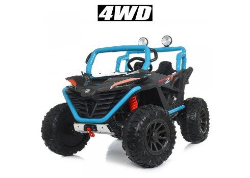 Детский электромобиль джип 4WD Bambi Racer M 4570EBLR-4-2 сине-черный