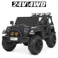 Детский электромобиль Джип полноприводный Bambi M 4572EBLR-2(24V) черный