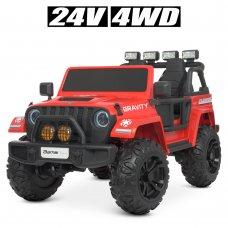 Детский электромобиль Джип полноприводный Bambi M 4572EBLR-3(24V) красный