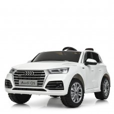 Детский 4-х моторный электромобиль Audi Ауди на резиновых колесах M 5394EBLR-1 белый