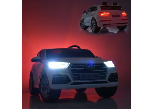 Детский 4-х моторный электромобиль Audi Ауди на резиновых колесах M 5394EBLR-3 красный