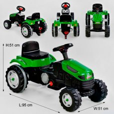 Трактор педальный (веломобиль) детский Pilsan 07-314 зеленый