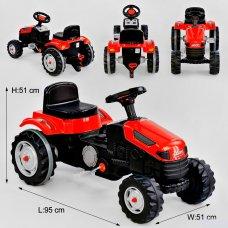 Трактор педальный (веломобиль) детский Pilsan 07-314 красный