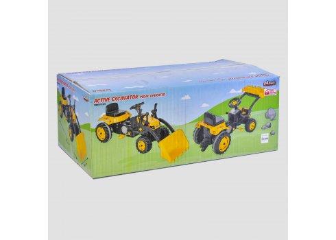 Экскаватор педальный (веломобиль) детский Pilsan 07-315 желтый