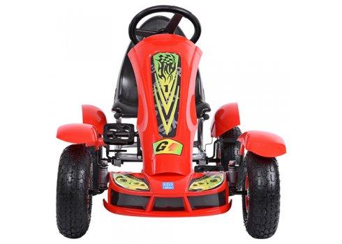 Детский педальный карт на надувных колесах, Bambi M 1450-3 красный
