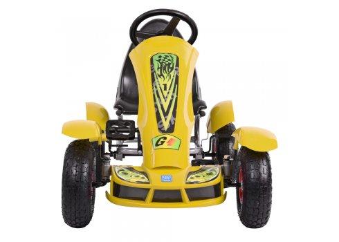 Детский педальный карт на надувных колесах, Bambi M 1450-6 желтый