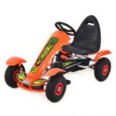 Детский педальный карт на надувных колесах, Bambi M 1450-7 оранжевый