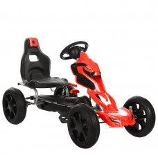 Детский педальный карт на EVA колесах Bambi 1504-2-3 красно-черный