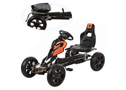 Детский педальный карт на EVA колесах Bambi 1504-2-7 оранжево-черный