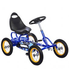 Детский педальный карт на надувных колесах, Bambi M 1698-4 синий